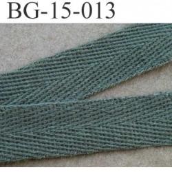 biais sergé coton galon ruban couleur vert kaki largeur 15 mm vendu au mètre