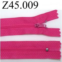 fermeture 45 cm fushia zip nylon non séparable