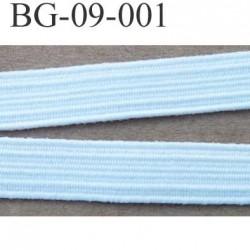 élastique plat largeur 9  mm couleur blanc vendu au mètre