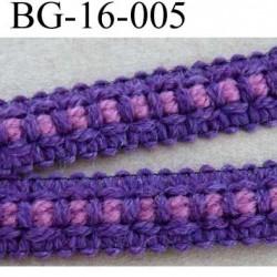 biais galon ruban couleur violet et bordeau largeur 16 mm vendu au mètre
