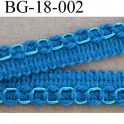 biais galon ruban couleur bleu tirant sur le turquoise largeur 18 mm vendu au mètre