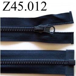 fermeture 45 cm bleu foncé zip nylon séparable