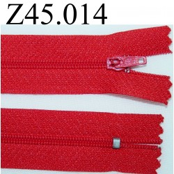 fermeture 45 cm rouge zip nylon