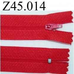 fermeture 45 cm rouge zip nylon