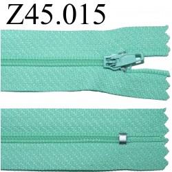 fermeture 45 cm vert non séparable zip nylon