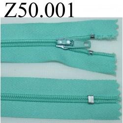 fermeture 50 cm vert non séparable zip nylon