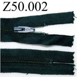 fermeture 50 cm vert foncé non sépararble