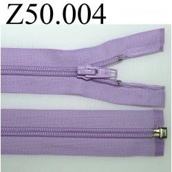 fermeture 50 cm mauve violet zip nylon