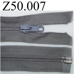 fermeture 50 cm gris séparable zip nylon