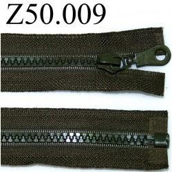 fermeture 50 cm vert kaki foncé séparable zip nylon