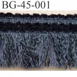 biais galon ruban à franges couleur noir et gris  souple et doux largeur 45 mm vendu au mètre