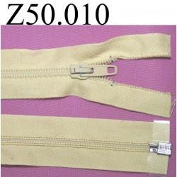 fermeture 50 cm beige séparable zip nylon