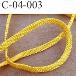 cordon a plat largeur 4 mm épaisseur 1 mm couleur jaune orangé lumineux vendu au mètre