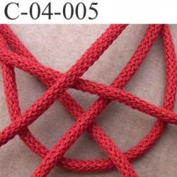 cordon ruban largeur diamètre 4 mm couleur rouge vendu au mètre