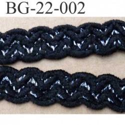 galon biais ruban largeur 22 mm couleur noir et argent très doux le  mètre