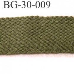 biais galon ruban couleur vert kaki très souple largeur 30 mm le mètre