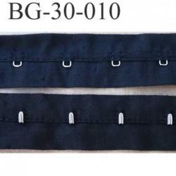 ruban  galon bande agrafe couleur noir largeur 30 mm  100 % coton  souple  un mètre male et un mètre femèle