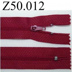 fermeture 50 cm bordeaux clair zip nylon