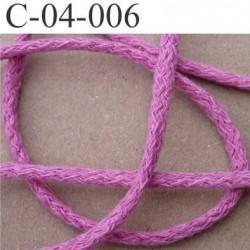cordon ruban largeur diamètre 4 mm couleur rose le mètre
