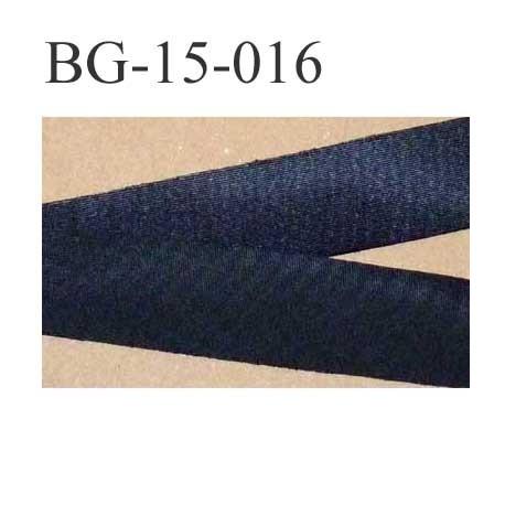 biais ruban galon a plat à plier couleur noir brillant satiné largeur 1.5 cm le  mètre