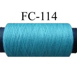bobine de fil polyester n° 120 couleur bleu longueur 200 mètres largeur de la bobine 5.5 cm diamètre 2.5 cm made in france