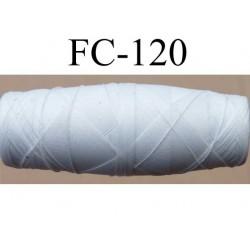 cocon bobine de fil polyamide épaisseur 70/2 couleur blanc écru longueur 200 mètres largeur du cocon 4 cm diamètre 1.5 cm