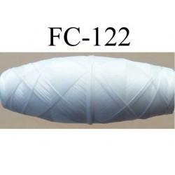 cocon bobine de fil polyamide fin couleur blanc longueur 180 mètres largeur du cocon 3.3 cm diamètre 1 cm