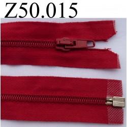 fermeture 50 cm rouge séparable zip nylon