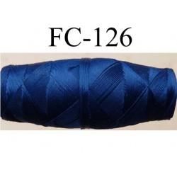 cocon bobine de fil nylon épaisseur 120/2 couleur bleu longueur 200 mètres largeur du cocon 4 cm diamètre 1.5 cm