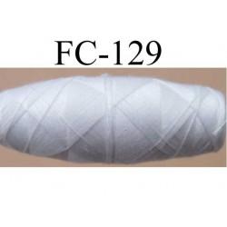 cocon bobine de fil polyester épaisseur 100 couleur blanc longueur 200 mètres largeur du cocon 4 cm diamètre 1.5 cm