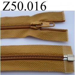 fermeture 50 cm marron clair séparable zip nylon