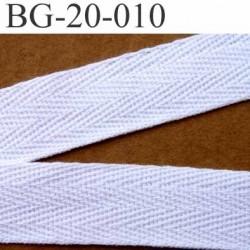 biais sergé coton galon ruban couleur blanc largeur 20 mm vendu au mètre