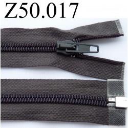 fermeture 50 cm gris foncé séparable zip nylon