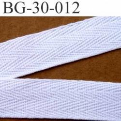 biais sergé 100 % coton superbe souple et doux galon ruban couleur blanc largeur 30 mm vendu au mètre
