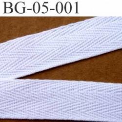 biais sergé 100 % coton superbe souple et doux galon ruban couleur blanc largeur 5 mm vendu au mètre