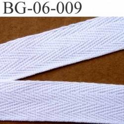 biais sergé 100 % coton galon ruban couleur blanc largeur 6 mm vendu au mètre
