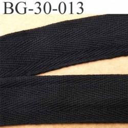 biais sergé 100 % coton superbe souple et doux galon ruban couleur noir largeur 30 mm vendu au mètre