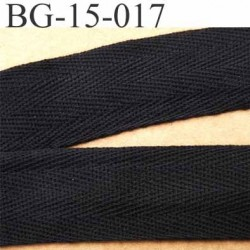 biais sergé 100 % coton superbe souple et doux galon ruban couleur noir largeur 15 mm vendu au mètre