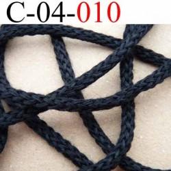 cordon 100 % coton superbe souple et doux couleur noir diamètre 4 mm le mètre