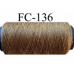bobine de fil couture n° 120 polyester couleur marron longueur 200 mètres largeur de la bobine 5.5 cm diamètre 2.5 cm