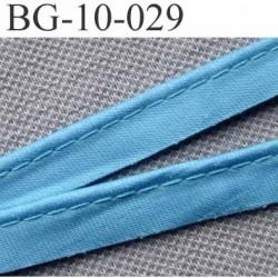 biais galon ruban passe poil couleur bleu brillant avec cordon intérieur coton 7 fils largeur 10 mm vendu au mètre