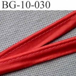 biais galon ruban passe poil couleur rouge brillant avec cordon intérieur coton 7 fils largeur 10 mm vendu au mètre