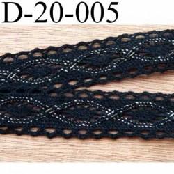 dentelle crochet ancienne en coton largeur 20 mm couleur noir et or provient d'une vieille mercerie parisienne vendue au mètre