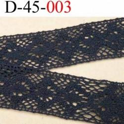 dentelle crochet en coton largeur 40 mm couleur noir provient d'une vieille mercerie parisienne vendue au mètre