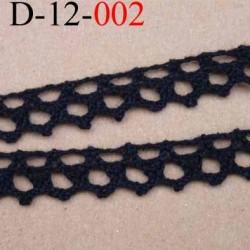 dentelle crochet 100% coton largeur 12 mm couleur noir provient d'une ancienne mercerie parisienne vendue au mètre
