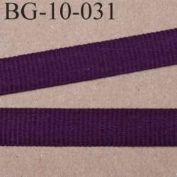 biais galon couleur prune violet foncé cotelé gros grain largeur 10 mm vendu au mètre