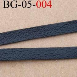 galon biais ruban façon cuir largeur 5 mm couleur noir vendu au mètre