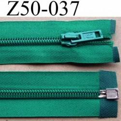 fermeture éclair longueur 50 cm couleur vert séparable largeur 3.2 cm zip glissière nylon largeur 6.5 mm curseur en métal