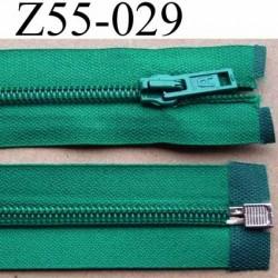fermeture éclair longueur 55 cm couleur vert séparable largeur 3.2 cm zip glissière nylon largeur 6.5 mm curseur en métal