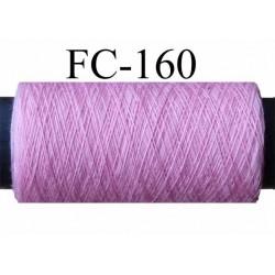 bobine de fil polyester n° 100 couleur rose longueur 200 mètres largeur de la bobine 5.5 cm diamètre 2.5 cm made in france